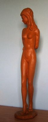 Statue; Paul Sersté - Staand naakt  - late 20th century