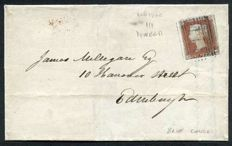 Great Britain 1841 - Queen Victoria - Penny Red on envelope