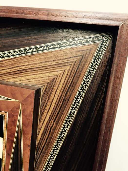 chessboard inlaid with ebony and ivory catawiki. Black Bedroom Furniture Sets. Home Design Ideas