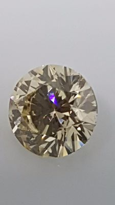 1.00ct - Round Brilliant - Yellow - VS1