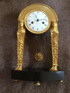 Egyptian Revival style table clock