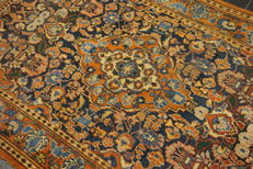 Antique fine hand-knotted Persian palace carpet, Kashan, cork, 130 x 210 cm, made in Iran