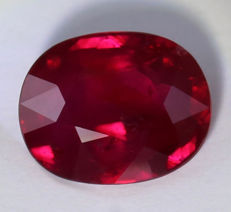 Ruby - Vivid Red - 2.01 ct