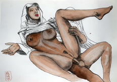 Original work; Joel Ranama - Hot Drawings: Sinning Nun - 2006