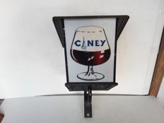 Large outdoor illuminated sign ciney. 1992.