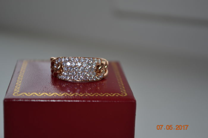 18kt rose gold with approx 1,0ct diamonds GH..VS2 - size of 6.5