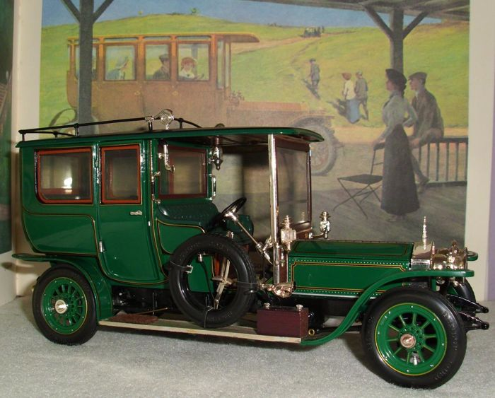 Franklin Mint - Scale 1/24 - Rolls-Royce Silver Ghost 40/50 HP 1907 - complete with documentation