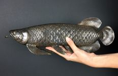Bronze figure of a fish - Arowana // 40cm