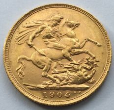 Great Britain - Sovereign 1904 - Edward VII - gold
