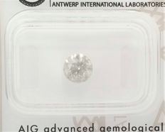 Round Brilliant Cut  - 0.97 carat  - G color  - I1 clarity  - Natural Diamond - Sealed AIG