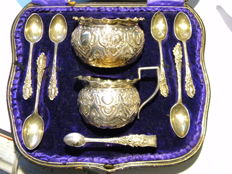 "Tea set originally sold by ""Fobert Jones and Sons"", Liverpool -  George Jackson & David Fullerton - London - 1904"