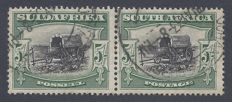 South Africa - 5s Green & Black  - Stanley Gibbons 38a