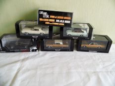 Minichamps / Neo - Scale 1/43 - Lot with 6 models: Ford, Cadillac, Opel,Chevrolet & Dodge