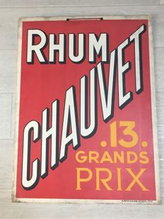 Vintage advertising sign from c. 1930 - Rhum Chauvet - Decoration