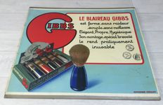 Vintage advertising sign from c.1940 - Gibbs Blaireau - Decoration - provided with old stamps