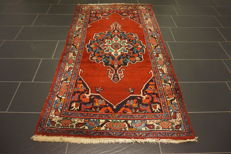 Perser Teppich Malayer Hamadan 110X210cm Naturfarben  Made in Iran