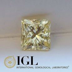 IGL 2.00 ct Natural Fancy Yellow VS1 Princess Cut Diamond ***Original Image***