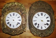 Lot of two Comtoise heads - Period approx. 1880 - France