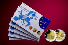 Germany - Euro 2011 - A-D-F-G-J-, including 5 x 2 Euro coin Nordrhein Westfalen
