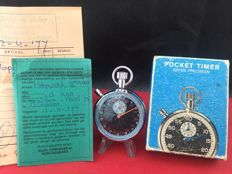 Commodoor Stopwatch / Cockpit Timer — 1970s — Full Set incl Box + Papers + Receipt