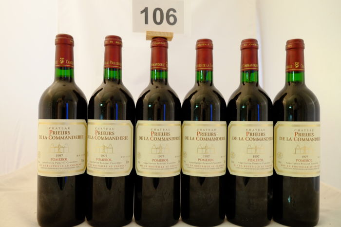 1997 Chateau Prieurs de la Commanderie, Pomerol, France - 6 Bottles.