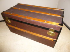 20th century travel chest, blanket chest, trunk