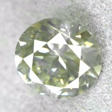 1 Diamond 1,02ct round brilliant, none, very good