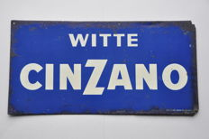 Old advertising sign - CINZANO - 1959