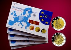 Germany - Euro 2012 - A-D-F-G-J-, including 5 x 2 Euro coin Bavaria