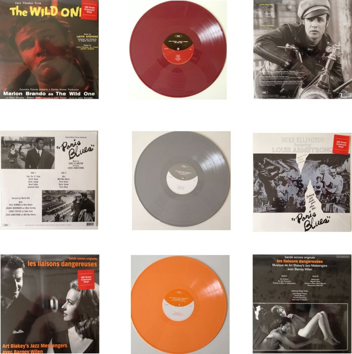 Lot Of  3 Soundtracks By Famous Jazz Musicians  -  On Unplayed 180 Grams Coloured Vinyl