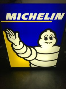 MICHELIN. Illuminated double-sided advertising sign