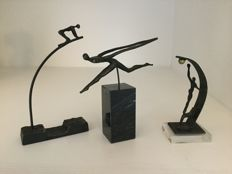 Corry Ammerlaan van Niekerk - three burnished sculptures