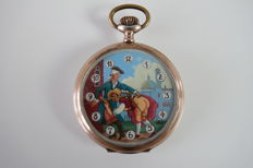 Pocket watch with erotic scene – Ancre – 1905