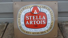 Enamelled plate from the 70s - STELLA ARTOIS