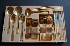 Cutlery by the Imperial company - Pearl edge model - Solingen, Germany - 23/24 karat hard gold plated - 6 people (37 pieces)