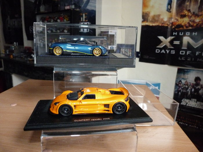 Peako Resin / Spark - Echelle 1/43 - Pagani Huayra - Limited Edition 31 / 50 and Spyker C8 Laviolette