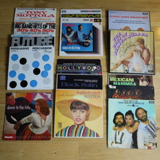 Mixed lot of 16 hard to find Exotica / Easy Listening / Bachelor / Pacific / Space Age albums