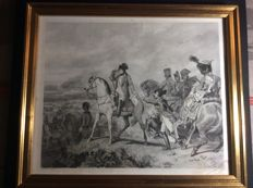 Jean Mathias Fontaine (1791-1853) - battle of Wagramme Napoleon - old engraving