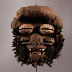 Extraordinary witch mask - GUERE - Ivory Coast