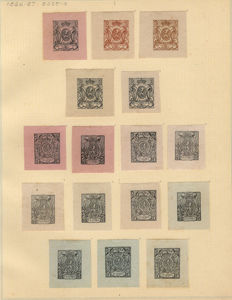 Belgium – Collection old printing proofs – between Stes 0087 and 1485