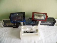Neo / AUTOart / Premium Diecast - Scale 1/43 - Lot with 6 models: Cadillac, Jaguar, Chevrolet & Maybach