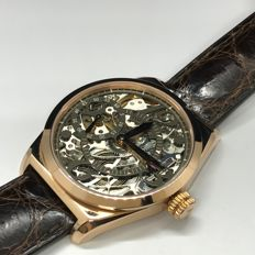 Milleret - 5464-52-211-AAB 18K Rose gold skeleton watch