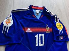 France Home Shirt - Euro 2004 - Legend Zidane 10.