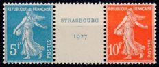 France 1927 - Triptych from block 2 - Yvert no. 242A