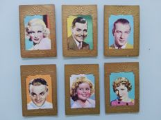 Collection of trading cards; Lot of 6 trading cards of film stars - 1920s
