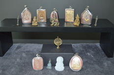 Buddhist amulets from a personal collection (15 pieces) - Thailand - mid/2nd half of the 20th century