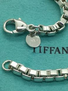 "TIFFANY & CO 925 Silver Box Bracelet (No Reserve) - Lenght : 19 cm (7 1/2"")"