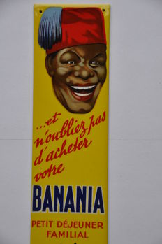 - Old advertising sign - BANANIA - circa 1950