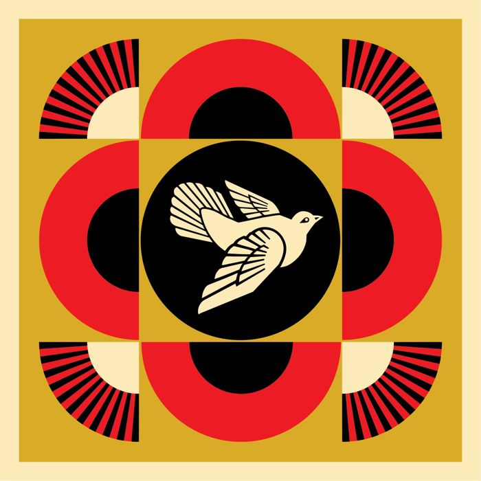 Shepard Fairey (OBEY) - Dove Geometric - Gold Edition