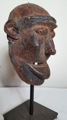 Old and rare wooden face mask-MAKONDE-Tanzania